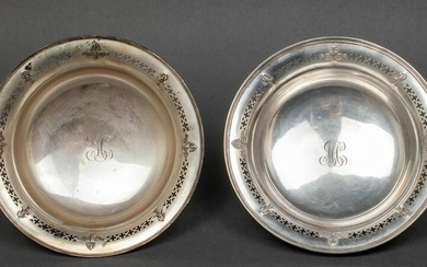 Reed & Barton Sterling Silver Footed Bowls, Pair