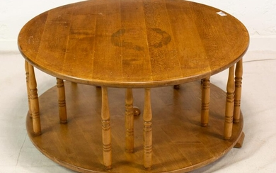 Round Oak English Two Tier Coffee Table