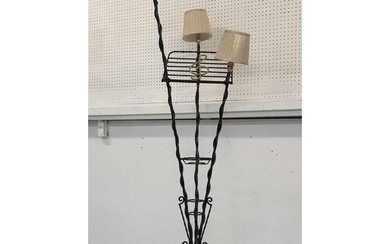 STANDARD LAMP/MUSIC STAND, mid 20th century French painted m...