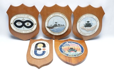 Set Of Vintage Military Related Plaques (5)