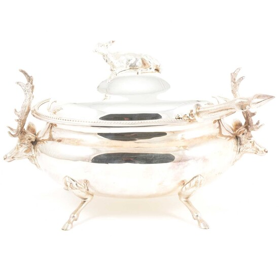 Silver plated tureen