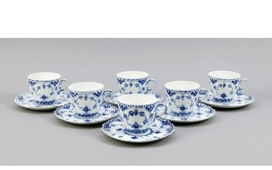 Six cups with saucers, Ro