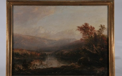 Thomas Doughty, American. Hudson river view painting