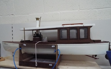 Very large (48 inches long) 1:16 scale Thames Steam launch '...