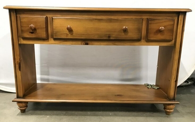 Vintage Footed Wooden Console Table