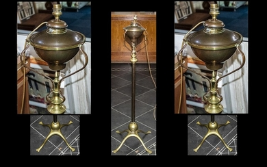 W A Benson Superb Floor Standing Arts and Crafts Copper and ...