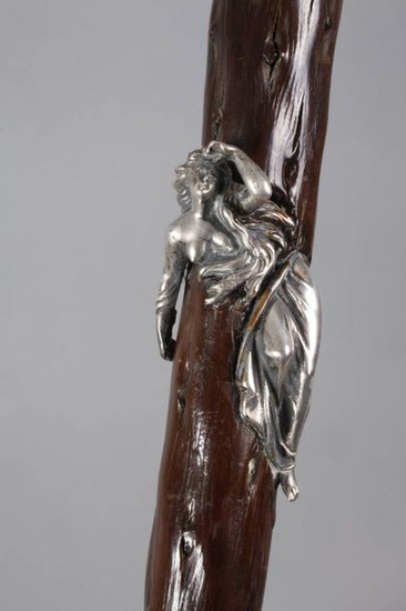 Walking stick with silver mounting