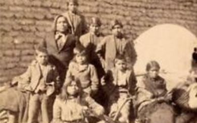 ca. 1880 SOUTHWEST NATIVE AMERICAN FAMILY PORTRAIT