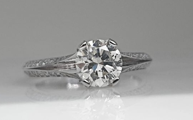 14 kt. White gold - Ring - 1.50 ct Diamond - No Reserve VS1