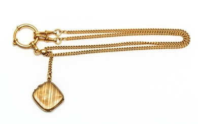 14krt. Gold watch chain, early 20th century, Mt....