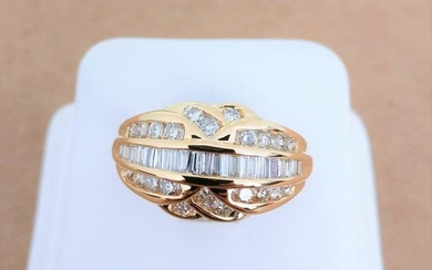 18 kt. Yellow gold - Ring - 0.41 ct Diamond - Diamond
