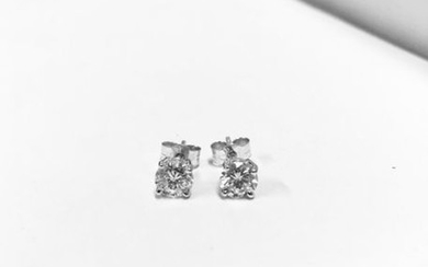 2.00ct Diamond solitaire earrings set with brilliant cut...