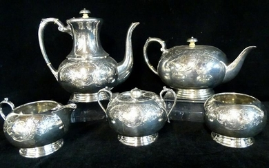 5 PC. SHEFFIELD SILVERPLATE ENGLISH TEA SET