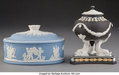 61057: Two Wedgwood Jasperware Table Articles, England