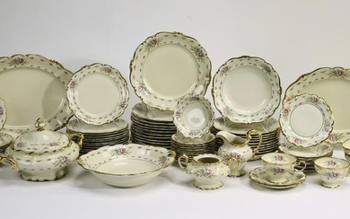 (79 pc) Rosenthal Pompadour table service for 12