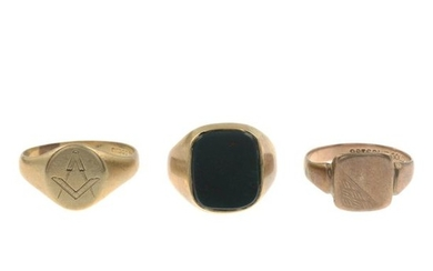 9ct gold cufflinks, hallmarks for 9ct gold, length...