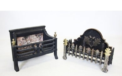 A 19th century style cast iron fire basket, 20th century, th...