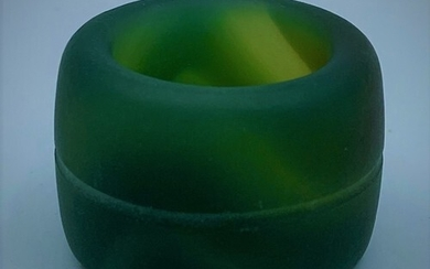 A Chinese/Mongolian Green Agate Archers Ring (19th Century) ...