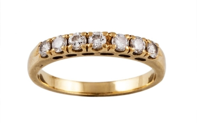 A DIAMOND HALF ETERNITY RING, with diamonds of 0.45ct in tot...