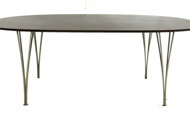 A Danish elliptical dining table