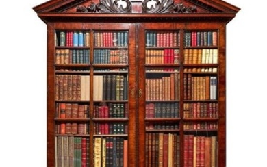 A George II style mahogany library bookcase