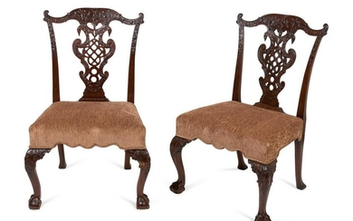 A Set of Ten George III Style Mahogany Dining Chairs in