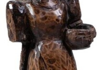 A carved wood figure of a lady, Philippines...