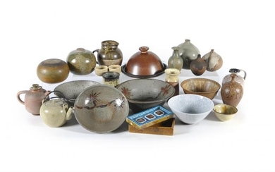 A collection of Stoneware Studio Pottery