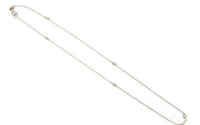 A white gold diamond necklace