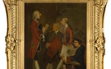 AFTER SIR JOSHUA REYNOLDS | CARICATURE OF THOMAS BRUDENELL-BRUCE, 1ST EARL OF AILESBURY, THE HON. JOHN WARD, JOSEPH LEESON, LATER 2ND EARL OF MILLTOWN, AND JOSEPH HENRY OF STRAFFAN