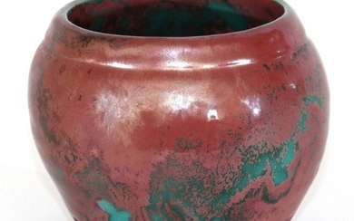 "AMERICAN ART POTTERY, JARDINERE, H 3.7"", D 4.2\"""