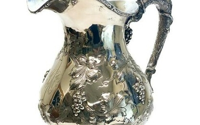 American Sterling Silver 6 Pint Repousse Pitcher