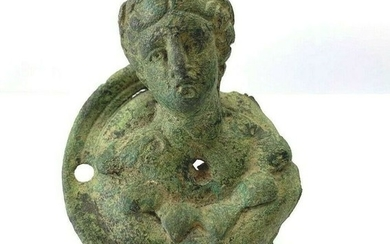 Ancient Roman Bronze Bust of Artemis the Goddes