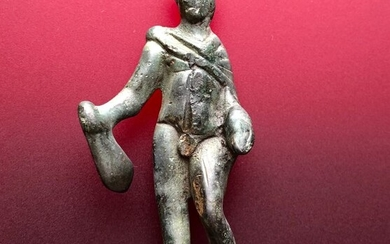 Ancient Roman Bronze Figurine of Mercury (Hermes) Exquisite style, Elegant Movements (not static) and Perfect Proportions