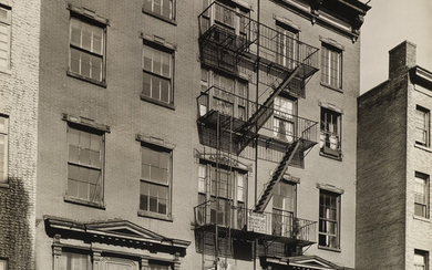 BERENICE ABBOTT (1898 1991) Grove Street No 45 Manhattan