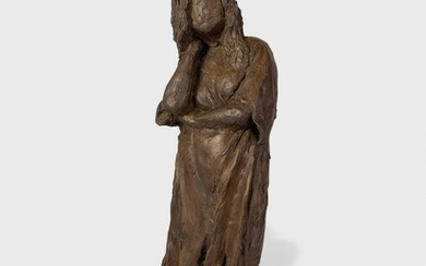 Bronze Sculpture Of A Woman, Unsigned