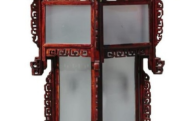 CHINESE TALL CHINOSERIE HAND CARVED DRAGON FIXTURE