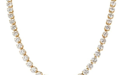 Cartier Diamond Tennis Necklace in 18K Yellow Gold