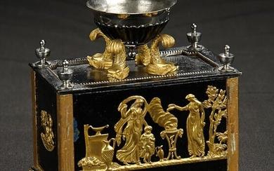 Cast Iron Chest with Embossed Brass Designs
