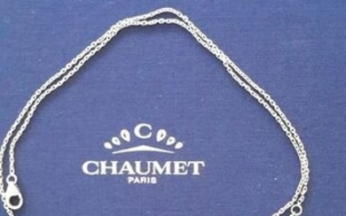 Chaumet - 18 kt. White gold - Necklace Amethyst - Diamond