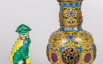 Chinese Cloisonné Lidded Vase