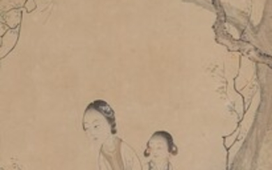 Chinese Painting, Beauties, Ink on Paper FR3SHLM