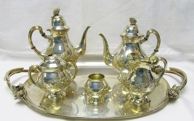 Coffee and tea service - .915 silver - 3.750 gr. - Spain - First half 20th century