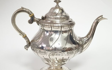 Coffee pot - .833 silver - Portugal - Late 19th century