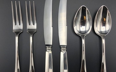 Couvert, Dessert place settings (6) - .833 silver - Netherlands - 1950, 1951, 1956