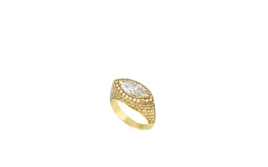 * DIAMOND AND GOLD RING