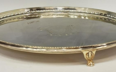 ELLISH BARKER ENGLISH SILVER PLATE ON COPPER TRAY
