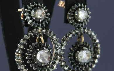 Early 20th century Dutch diamond earrings
