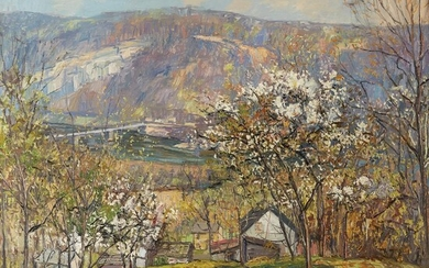 Edward Willis Redfield (American, 1869–1965) The Peaceful Valley Signed...