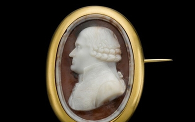 FRENCH, CIRCA 1800 POSSIBLY PHILIPPE LELIEVRE (1731-1815) | CAMEO WITH JEAN-JACQUES-RÉGIS DE CAMBACÉRÈS, DUKE OF PARMA, SECOND CONSUL OF FRANCE (1753-1824)